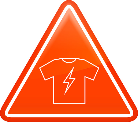 T-shirt with Lightning Icon