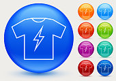 istock T-shirt with Lightning Icon 1279809295