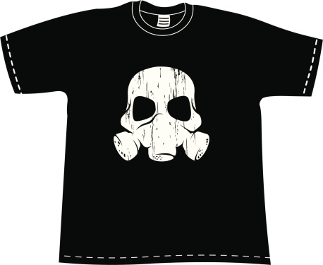 T-shirt with Skull mask