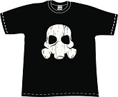 T-shirt with Skull mask.