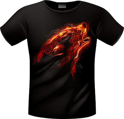T-shirt with vector picture