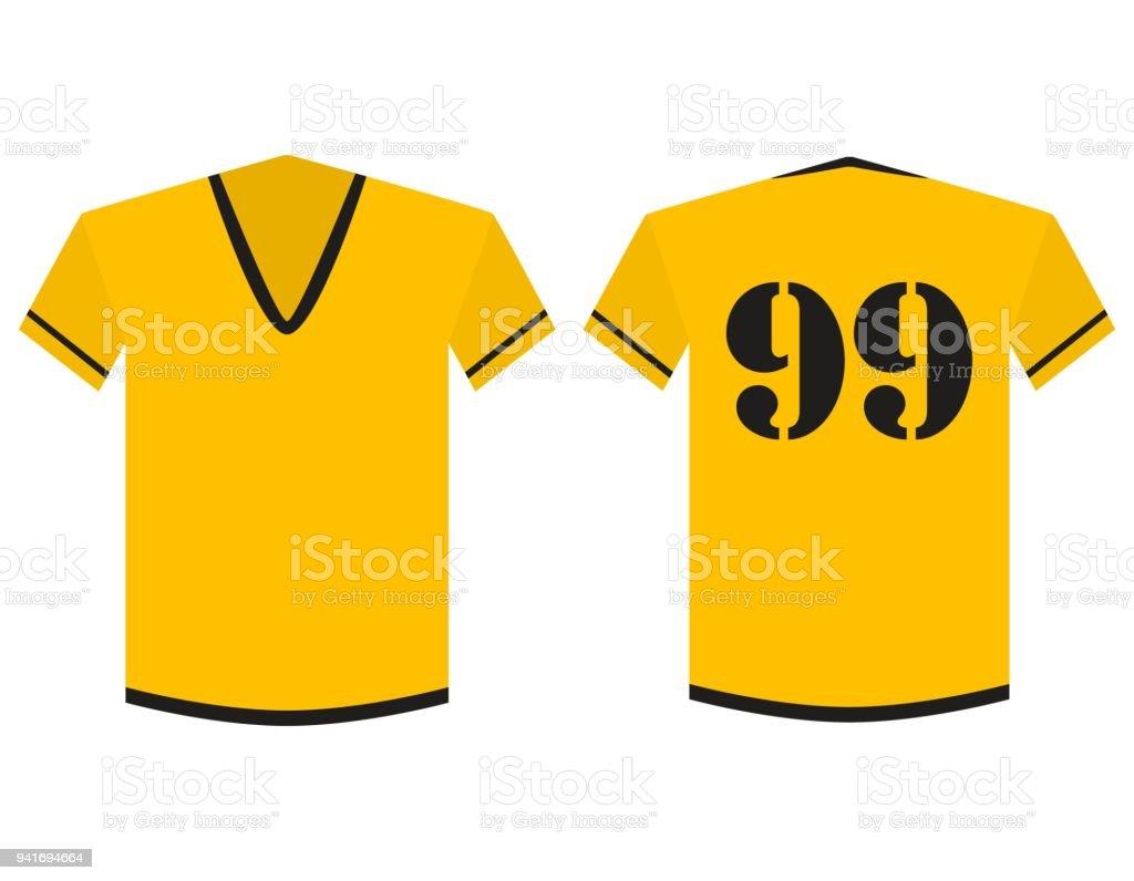 Camiseta Amarilla Y Negra Fútbol O Fútbol Plantilla Equipo Club ...