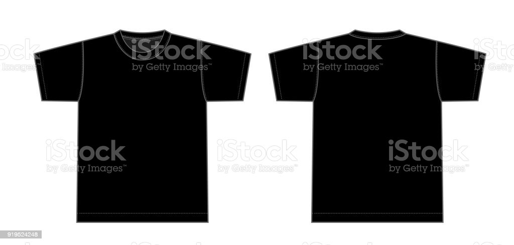 Tshirts illustration (black) vector art illustration