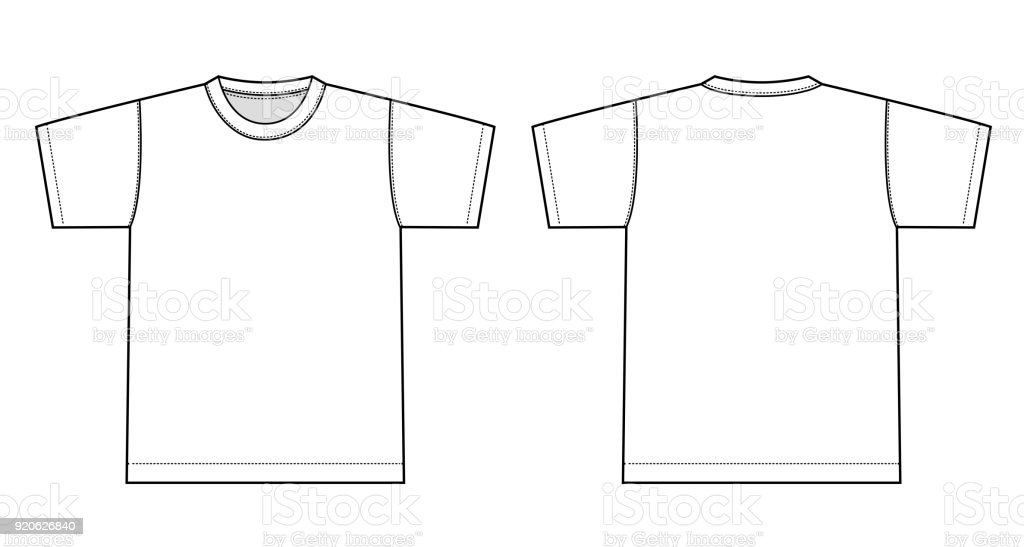 Tshirts illustration (white) vector art illustration