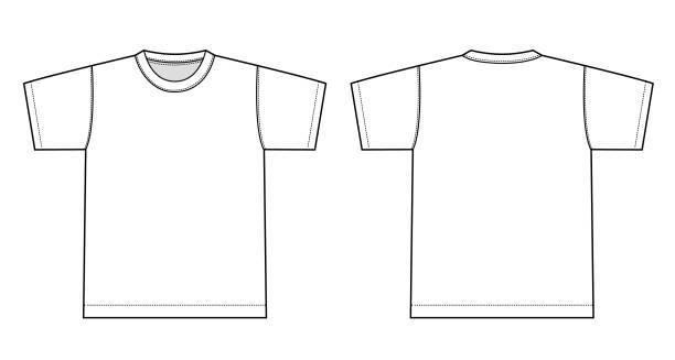 stockillustraties, clipart, cartoons en iconen met tshirts illustratie (wit) - t shirt