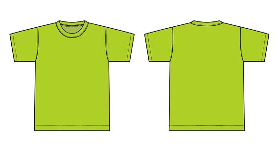 Tshirts illustration ( yellow green/light green )