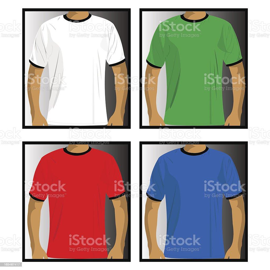 T-shirts vector art illustration