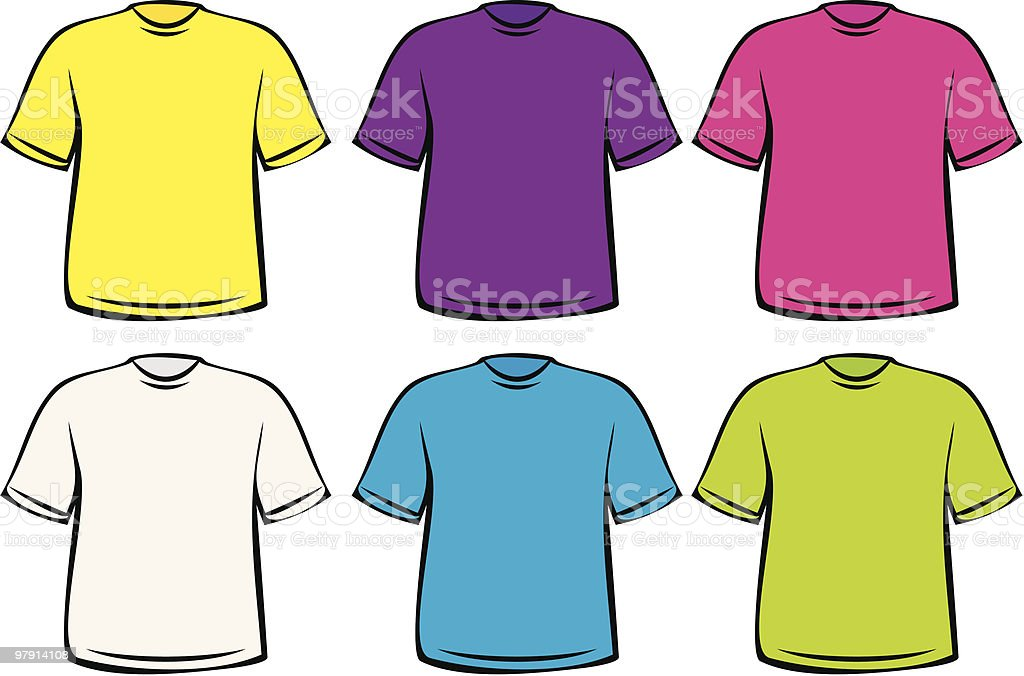 T-shirts - Vector Illustration royalty-free tshirts vector illustration stock vector art & more images of blank