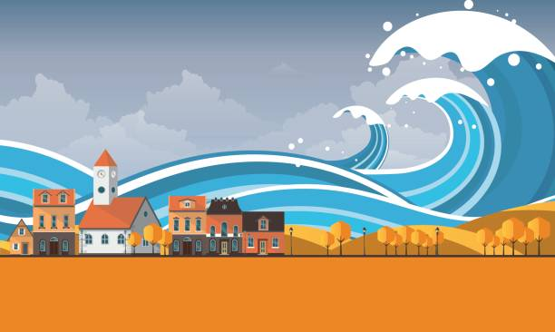 Best Tidal Wave Illustrations, Royalty-Free Vector ...