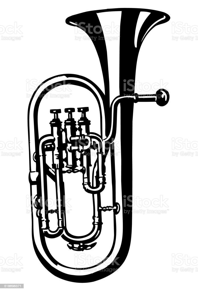 tuba horn vector clipart stock vector art more images of cartoon rh istockphoto com tuba player clipart masque tuba clipart