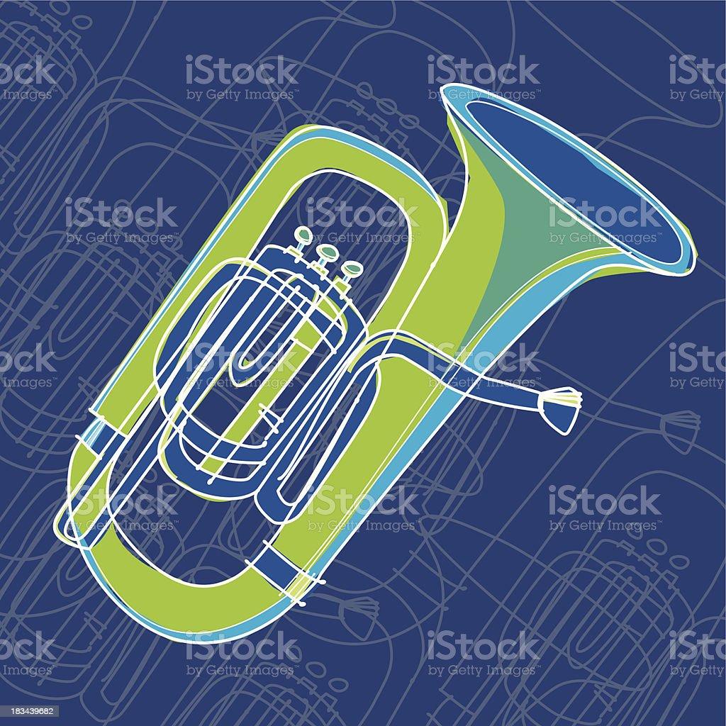tuba royalty-free stock vector art