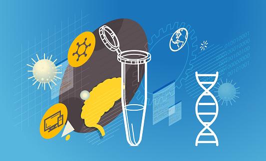 PCR Tube - Covid Testing Research Data - Illustrator