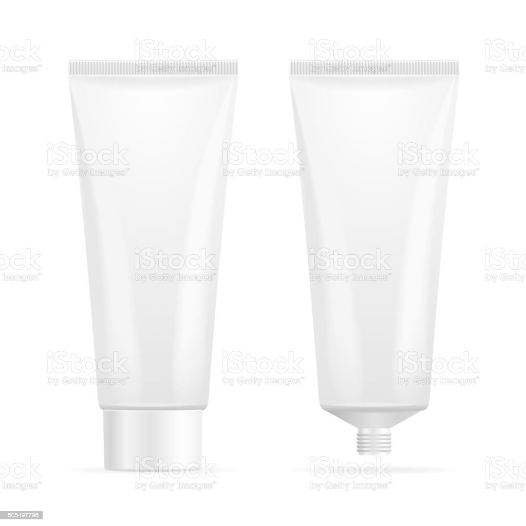 Tube Mock-Up For Cream. Vector vector art illustration