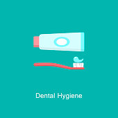 istock Tube of toothpaste and tooth brush icon. 931555050