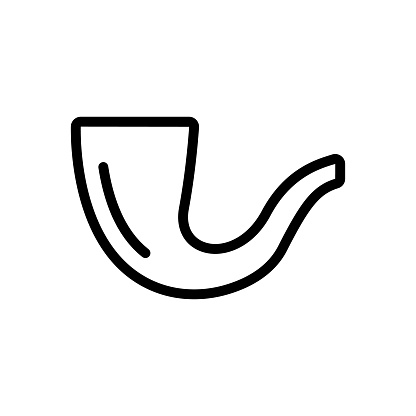 Tube tobacco icon vector. Isolated contour symbol illustration