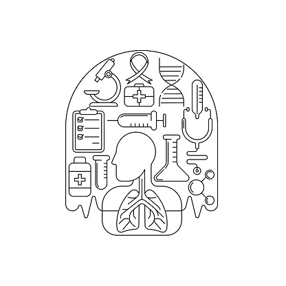 Tuberculosis - Medical Lungs Vector illustration