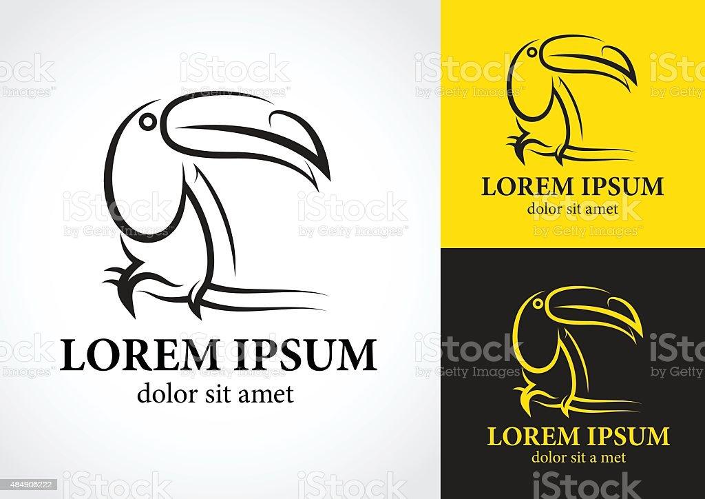 Tucan logo design vector art illustration