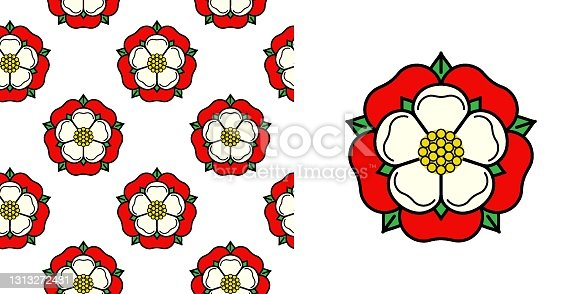 istock Tudoe rose of Englnd vector illustration. 1313272481
