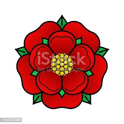 istock Tudoe rose of Englnd vector illustration. 1313272482