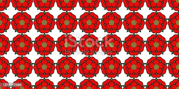 istock Tudoe rose of Englnd vector illustration. 1313272494