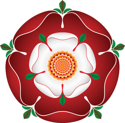 Tudor Dynasty Rose – vector shaded illustration – English Symbol