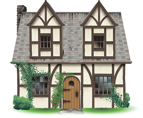 Tudor Home with Ivy