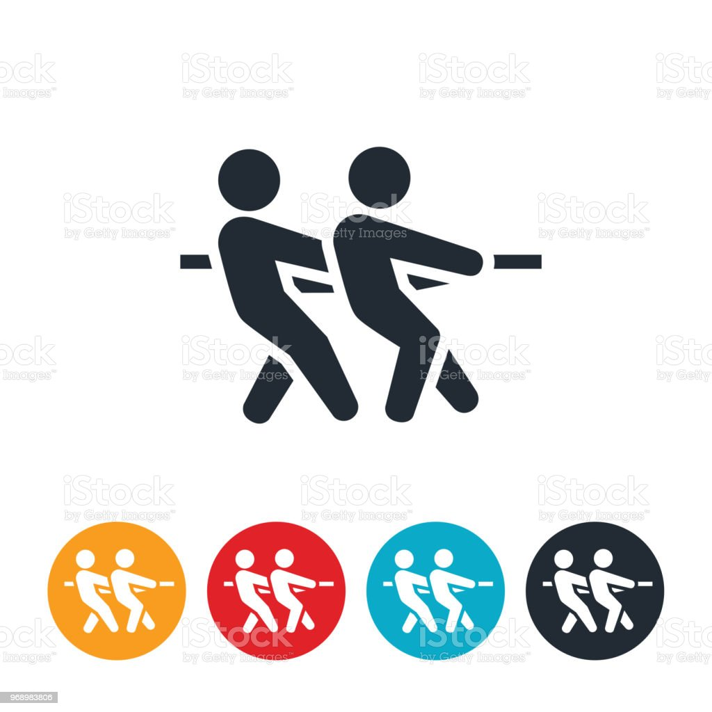 Tug Of War Icon Stock Vector Art More Images Of Adversity