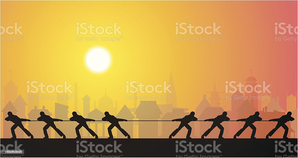 Tug of War in Town royalty-free tug of war in town stock vector art & more images of adult