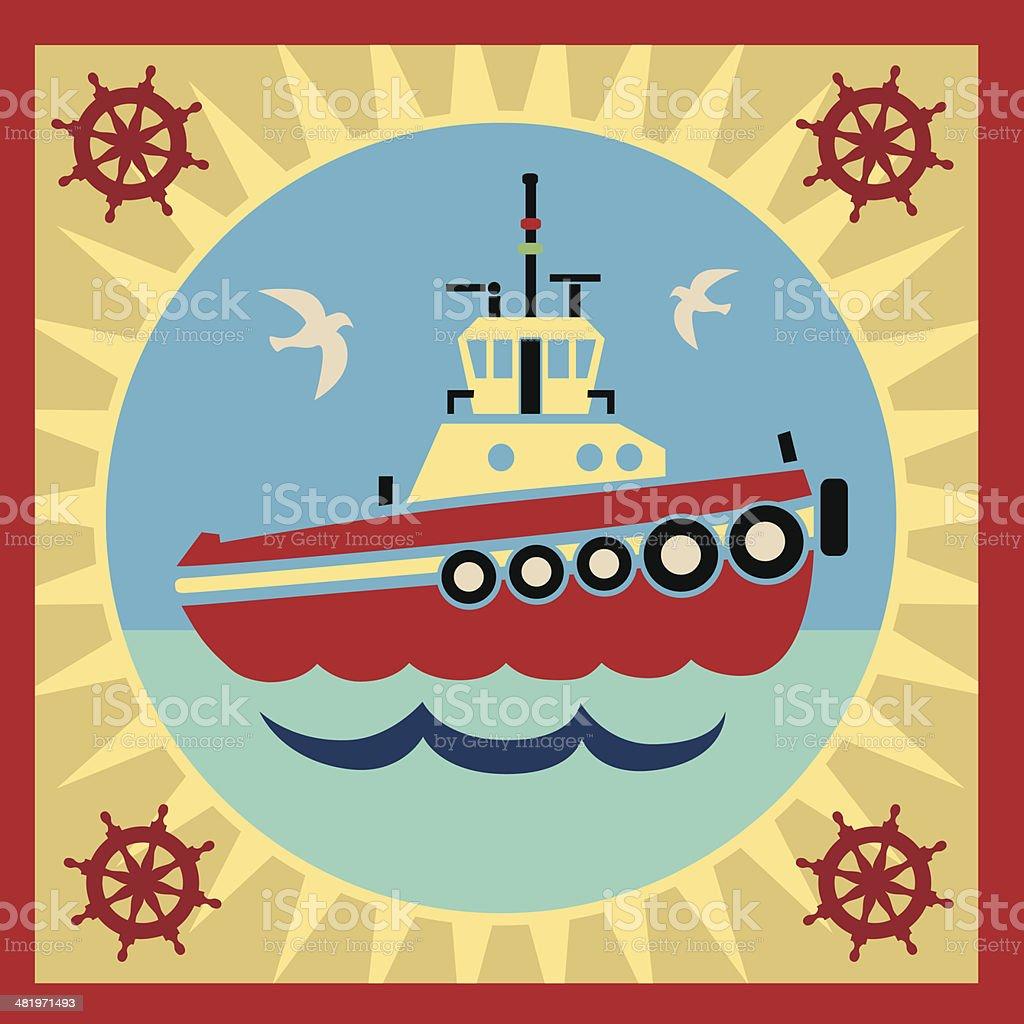tugboat royalty-free stock vector art