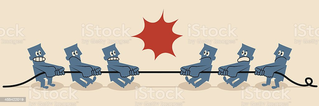 Tug-of-war royalty-free stock vector art