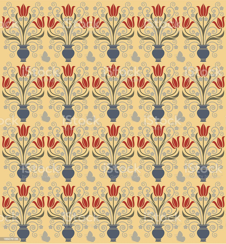Tulip background pattern royalty-free stock vector art