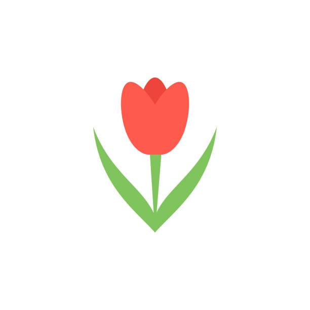 bildbanksillustrationer, clip art samt tecknat material och ikoner med tulip färgade ikonen. element med färgade hösten ikonen för mobila koncept och web apps. färgade tulip ikonen kan användas för webb och mobil - tulpaner