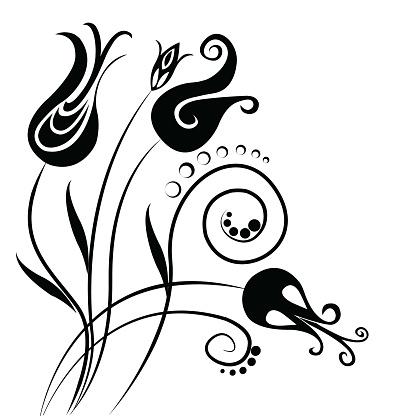 Tulip Decorative Istanbul Themed Seamless Pattern Example stock illustration