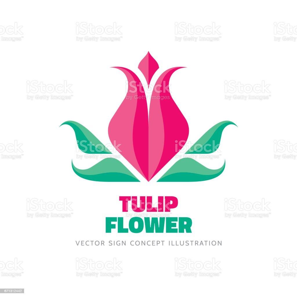 Tulip Flower Vector Logo Template Concept Illustration In ... - photo #12
