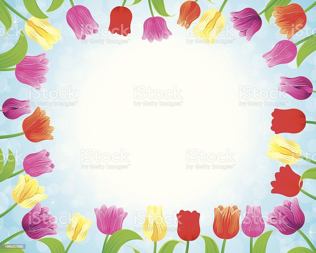 Tulip Frame royalty-free stock vector art