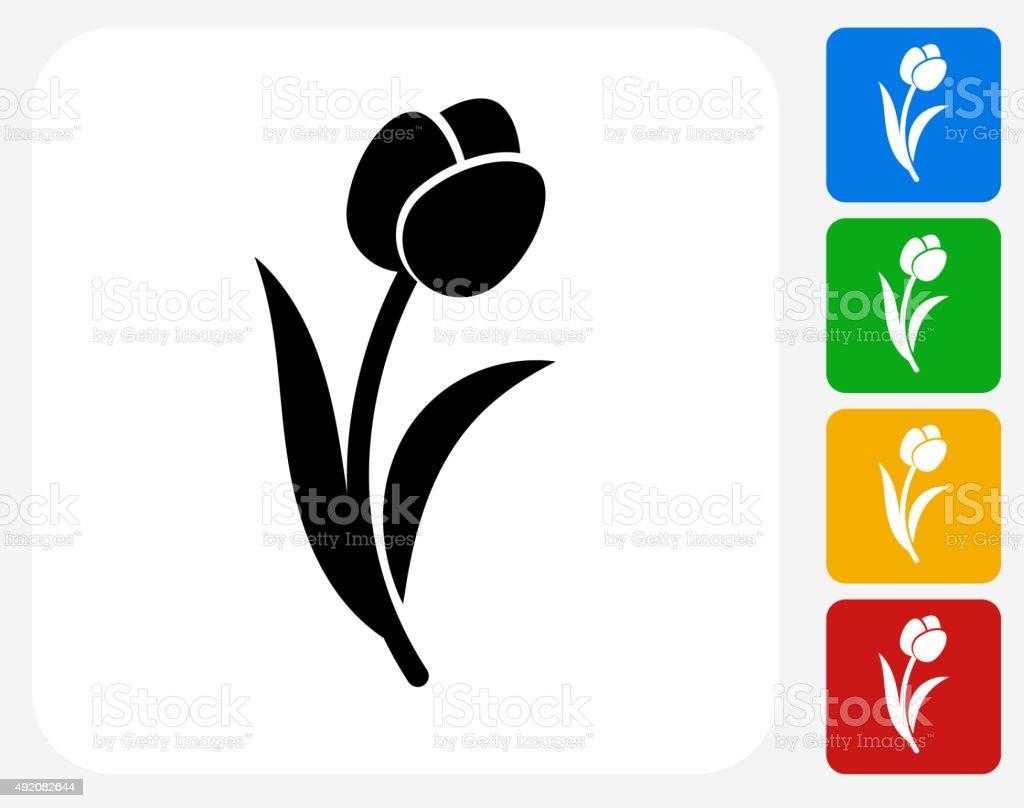 Tulip Icon Flat Graphic Design vector art illustration