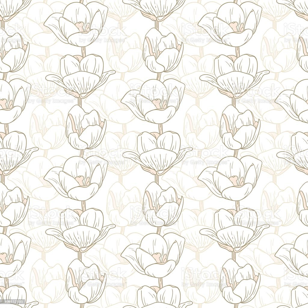 Tulip pattern royalty-free tulip pattern stock vector art & more images of abstract