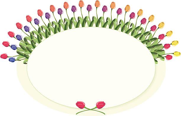 Tulip Plaque vector art illustration