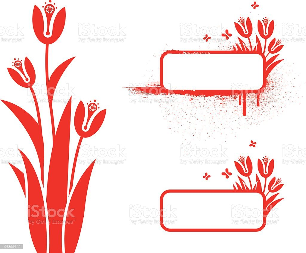 Tulips and frames royalty-free tulips and frames stock vector art & more images of art