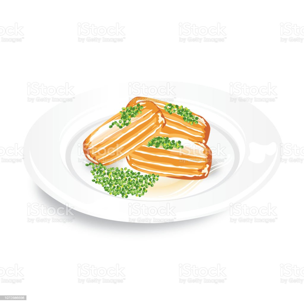 Tulumba tatlısı vector art illustration