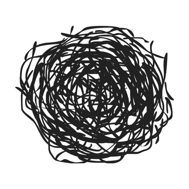 Tumbleweed icon in black style isolated on white background. Wlid west symbol stock vector illustration. - illustrazione arte vettoriale