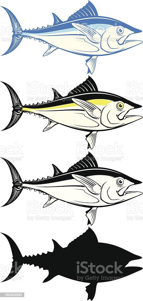 Tuna fish set royalty-free stock vector art