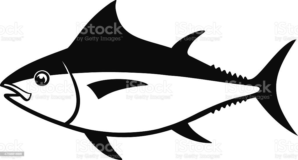 Tuna Fish vector art illustration