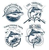istock Tuna Vector designs. Sport Fishing Club designs. 843751704
