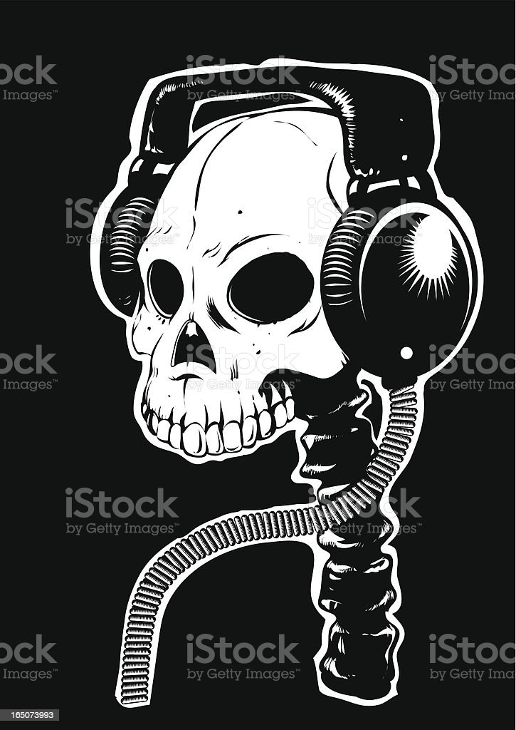 Tunes to the death vector art illustration