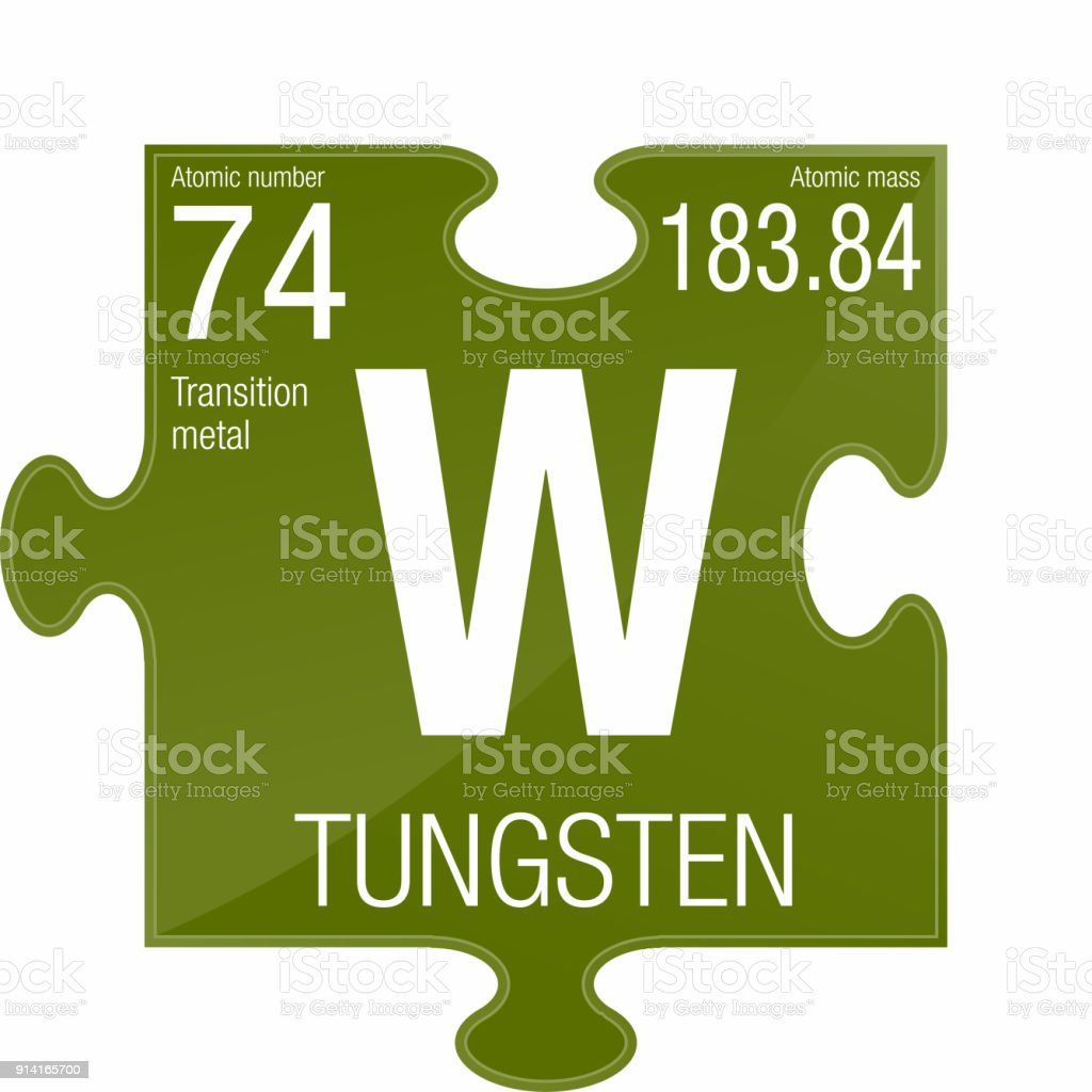 Tungsten Symbol Element Number 74 Of The Periodic Table Of The