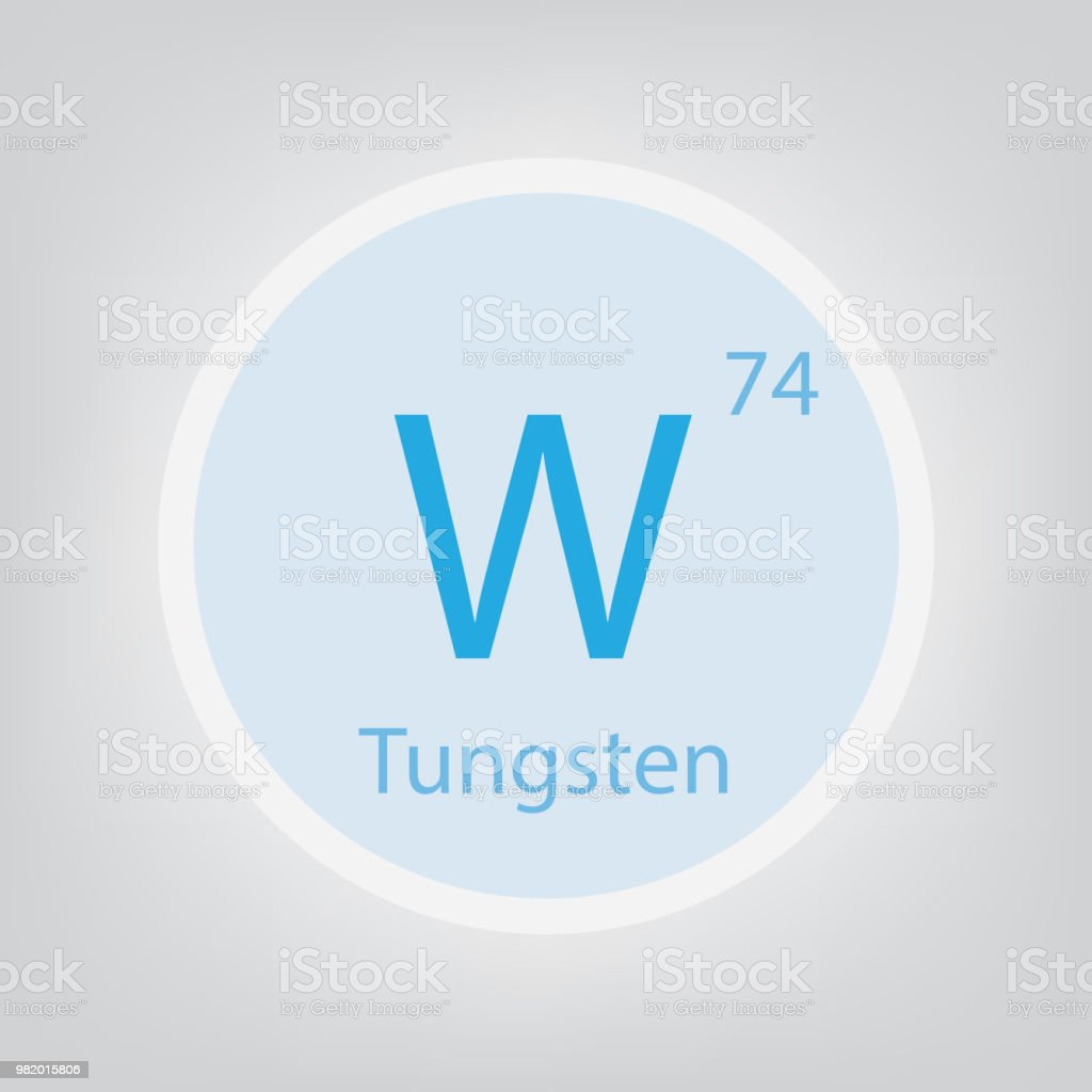 Tungsten w chemical element icon stock vector art more images of atomic bomb internet laboratory letter w periodic table tungsten urtaz Image collections