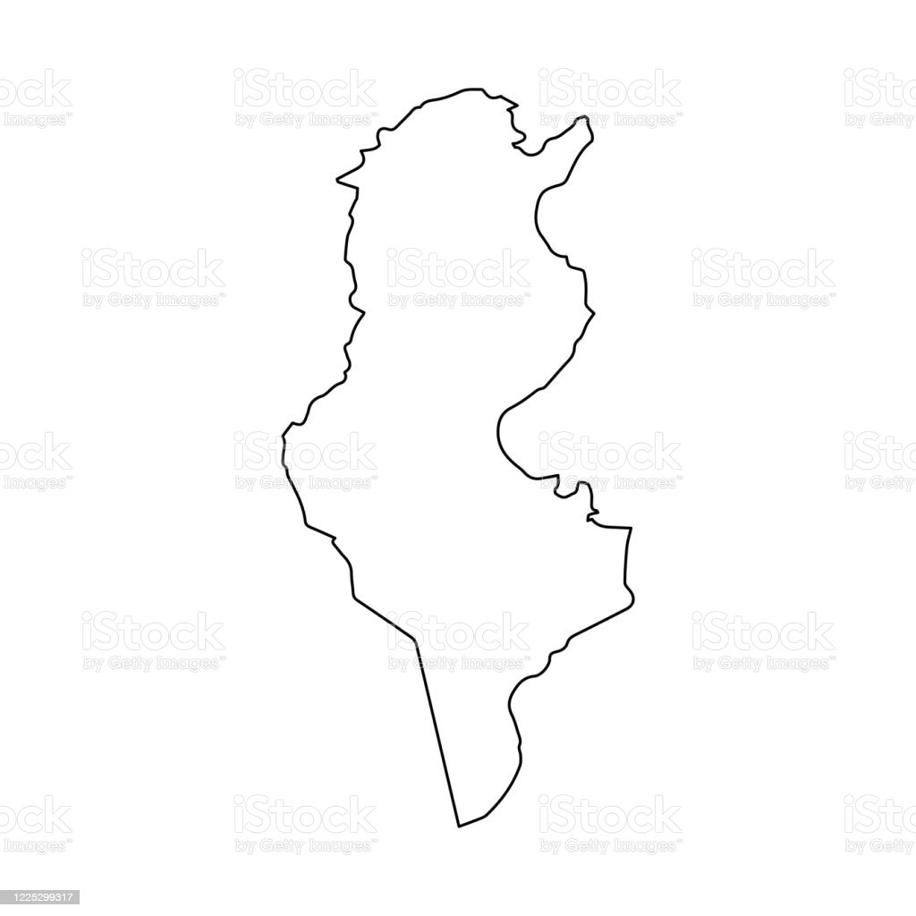 Picture of: Tunisia Map Line Outline Country Africa Map Illustration Vector African Isolated On White Background Stock Illustration Download Image Now Istock