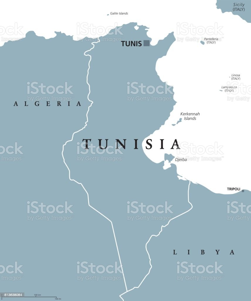 Tunisia Political Map Stock Vector Art & More Images of Africa - iStock