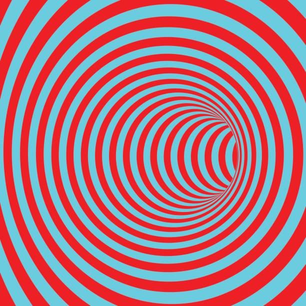 Tunnel. Abstract striped background. Optical art. 3D vector illustration. vector art illustration